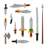 Knifes weapon vector illustration. Stock Image