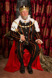 König auf Thron Stockfotografie