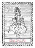 Knig of cups. The tarot card. Royalty Free Stock Photos