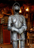 Knigh armour. Knight armour on an old souvenir shop royalty free stock photos