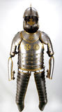 Knight. Armour of the medieval knight. Metal protection of the soldier against the weapon of the opponent Royalty Free Stock Photos