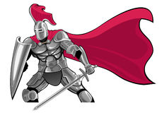 Knight. Armored knight with sword and shield Royalty Free Stock Image
