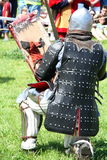 Knight. WARSAW, POLAND - JUNE 6: Struggle medieval knight during XV Knight Tournament on June 6, 2010 in Warsaw, Poland Stock Images
