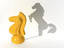 Knight. The three-dimensional image of a chess horse Royalty Free Illustration