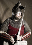 Knight. Serious medieval knight studio shot Stock Images