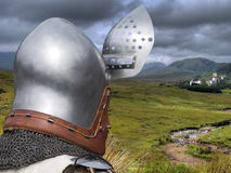 Knight. Is returning to his castle Stock Image