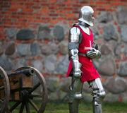 Knight. The medieval knight. Show in Kaunas Stock Image