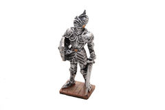 Knight. Picture of the little gray toy knight Stock Photo