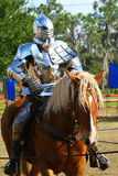 Knight. Medieval knight on a horse Royalty Free Stock Photos