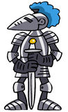 Knight. Grey Knight also in vector format Stock Photography