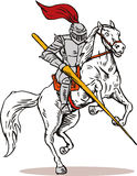 Knight. Illustration of a knight isolated on white background Royalty Free Stock Photography