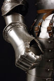 Knight. Armour of the medieval knight. Metal protection of the soldier against the weapon of the opponent Royalty Free Stock Image