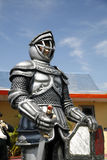 Knight. Statue of a knight in full armor Stock Image