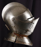 Knight. Armour of the medieval knight. Metal protection of the soldier against the weapon of the opponent Stock Image