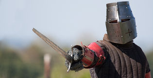The Knight. A knight ready to fight Royalty Free Stock Image