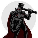 Knight. A knight holding a hammer Royalty Free Stock Photography