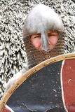 Knight. With helmet and shield Stock Image