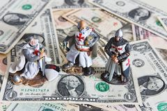 Knight And Dollars Royalty Free Stock Photography