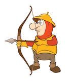 Knight Archer Cartoon Character Royalty Free Stock Image