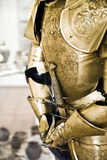 Knight armor. One natural old textured knight armor Stock Image