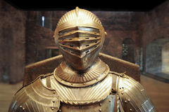 Knight armor. Vintage old museum Royalty Free Stock Photography