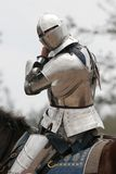 Knight in Armor 2. Knight in armor on horse at renaissance festival Stock Photography
