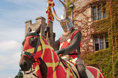 Knight in armor. Knight guarding Hever castle, England Royalty Free Stock Photography