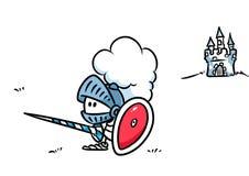 Knight armor cartoon Royalty Free Stock Photography