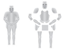 Knight armor disassembled vector illustration Royalty Free Stock Image