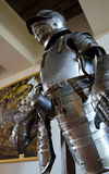 Knight armor. Armor exhibition in museum in Mir Castle Stock Photo