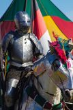 Knight in Armor. Medieval Knight at Fort Myers Spring Fair Stock Images