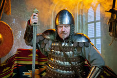 Knight in armor Royalty Free Stock Images