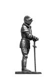 Knight in armor with a sword. Stock Photos