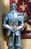 Knight armour. Renaissance knight armor. outdoors decoration Stock Photos