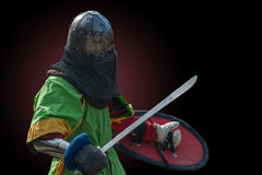 Knight in armour Stock Image