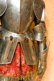 Knight armour suit, fragment Stock Images