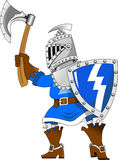 Knight with an ax Stock Image
