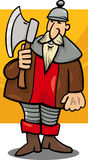 Knight with axe cartoon illustration Royalty Free Stock Photography