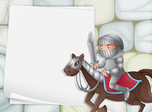 Knight banner Stock Photo