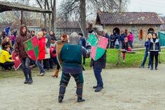 Knight battle on Shrovetide Celebration in Zaporizhia Stock Photography