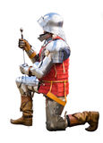 Knight on Bended Knee Stock Images