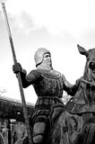 Knight in black and white Stock Images