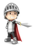 Knight boy Royalty Free Stock Photos