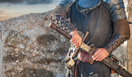 Knight. The brave knight with his big sword Royalty Free Stock Photos