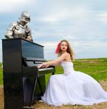The knight and bride Royalty Free Stock Image