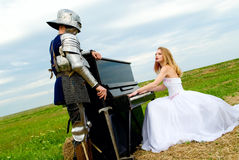 The knight and bride Royalty Free Stock Images