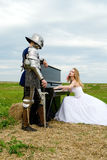The knight and bride Stock Photo