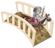 Knight and bridge Royalty Free Stock Photography