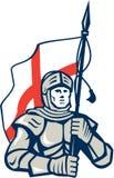 Knight British Flag Retro Stock Image