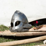 Knight camp during the traditional Medieval festival Stock Image